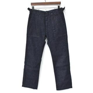 エンジニアードガーメンツ(Engineered Garments)の美品 エンジニアードガーメンツ ファティーグパンツ デニム インディゴ 30(デニム/ジーンズ)