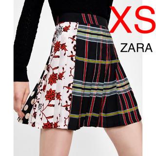 ZARA - ZARA パッチワーク プリーツスカート スカート 安室奈美恵