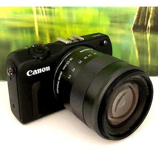 キヤノン(Canon)のスマホ転送❤️新品級極上品❤️キャノン EOS M2 レンズキット ブラック(ミラーレス一眼)
