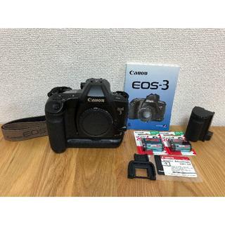 キヤノン(Canon)のCanon EOS-3 + BP-E1(美品)(フィルムカメラ)