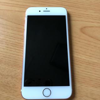 iPhone 6s カバー付き 64GB ローズゴールド(スマートフォン本体)