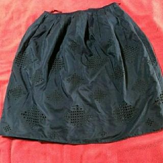 アマカ(AMACA)のアマカ ネイビースカート(ひざ丈スカート)