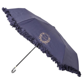 Maison de FLEUR - メゾンドフルール 日傘 ヒートカットフリル折りたたみ傘