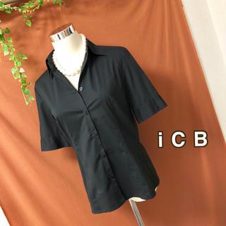 アイシービー(ICB)のICB*美品 ストレッチ半袖ブラウス*(シャツ/ブラウス(半袖/袖なし))