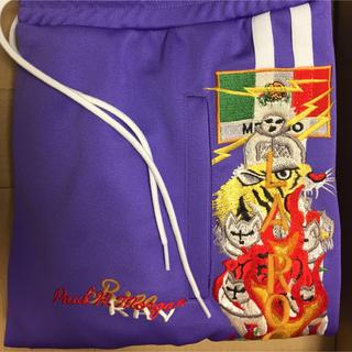 ファセッタズム(FACETASM)の最安値 18aw Doublet カオス刺繍 Track Pants 紫 M(ジャージ)