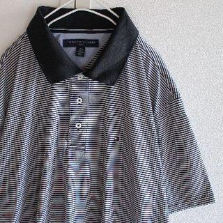 トミーヒルフィガー(TOMMY HILFIGER)のUS T4 トミーヒルフィガー ゴルフ 撥水 ボーダー 半袖 ポロシャツ XL(ポロシャツ)