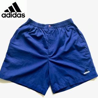アディダス(adidas)のadidas アディダス ショートパンツ  ブルー Mサイズ 北米モデル(ショートパンツ)