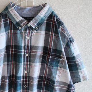 トミーヒルフィガー(TOMMY HILFIGER)のUS T3 トミーヒルフィガー チェック 半袖 シャツ XXL(シャツ)