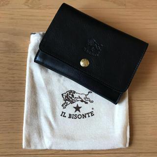 イルビゾンテ(IL BISONTE)の新品未使用 IL BISONTE イルビゾンテ 二つ折り 財布 ブラック 黒(折り財布)