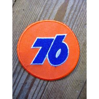76のラウンドワッペン  企業ロゴ ガレージ つなぎ ファッション アップリケ(その他)