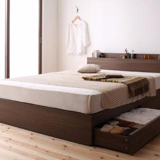 【限定安値♪】収納 マットレス付 ベッド シングル(シングルベッド)
