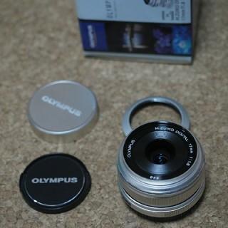 オリンパス(OLYMPUS)のオリンパス m.zuiko 17mm f1.8 シルバー フジツボフード付(レンズ(単焦点))