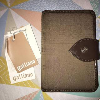 ジョンガリアーノ(John Galliano)のジョンガリアーノ 手帳 カバー 綿x皮革製(手帳)
