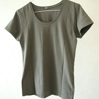 MUJI (無印良品) - 無印 カーキ Tシャツ
