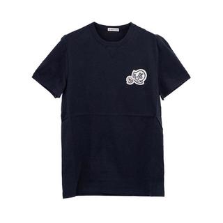 MONCLER - MONCLER 2018SSダブルワッペン無地Tシャツ