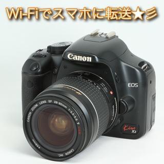 キヤノン(Canon)の★Wi-Fiスマホ転送★彡初心者に最適!キャノン EOS kiss X2(デジタル一眼)