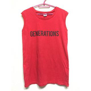 GENERATIONS ツアーTシャツ ノースリーブ タンクトップ 赤