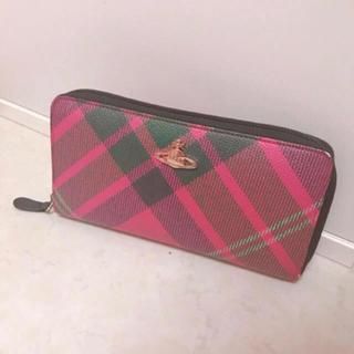 ヴィヴィアンウエストウッド(Vivienne Westwood)の♡Vivienne Westwood♡ ピンク タータンチェック 長財布(財布)