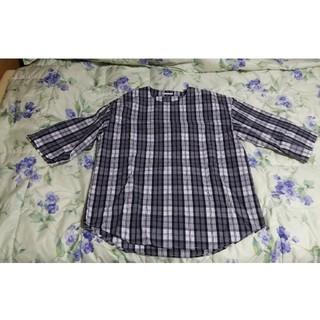 ジーユー(GU)の【送料込】チェック柄メンズシャツ(Tシャツ/カットソー(七分/長袖))
