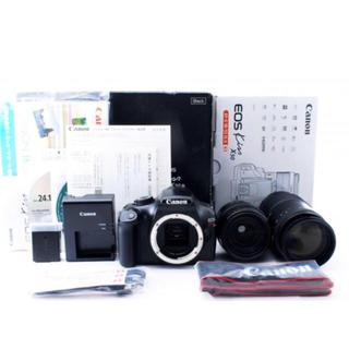 キヤノン(Canon)のCanon ブラックダブルレンズセット Wi-Fi SD付き(デジタル一眼)