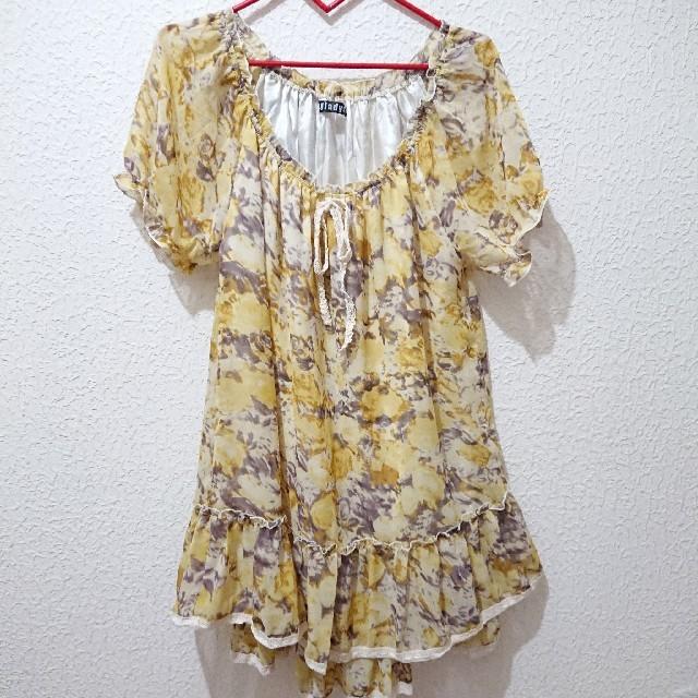 しまむら(シマムラ)の新品 花柄 ワンピース♥️Mサイズ レディースのワンピース(ミニワンピース)の商品写真