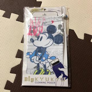 ディズニー(Disney)のミニーマウス☆マイクロファイバー☆ポーチ(モバイルケース/カバー)