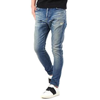 バルマン(BALMAIN)のbalmain skinnyfit damage washing jean(デニム/ジーンズ)