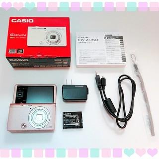 カシオ(CASIO)のCASIO EX-ZR50 デジカメ  ピンク(コンパクトデジタルカメラ)
