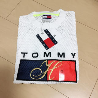 TOMMY HILFIGER - 【新品未使用】tommy jeans 90s メッシュロゴTシャツ 白