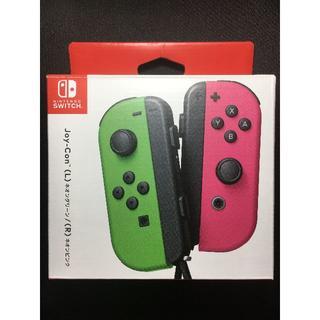 Nintendo Switch - 【新品】任天堂SWITCH専用 Joy-Con左右 ネオングリーン&ピンク★