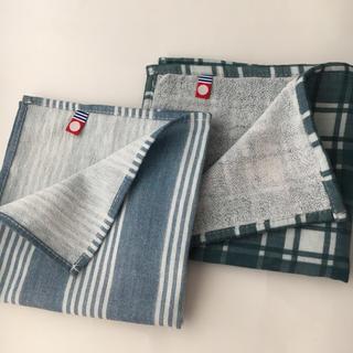 【今治タオル】ミニハンカチ2枚 ロゴあり☆アウトレット(ハンカチ/ポケットチーフ)