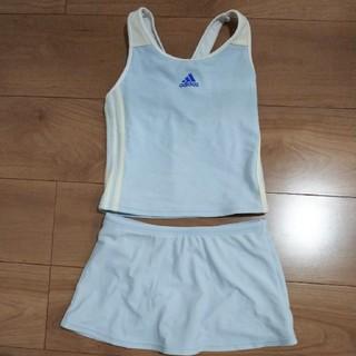 アディダス(adidas)の水着 140センチ アディダス 水色 セパレート(水着)