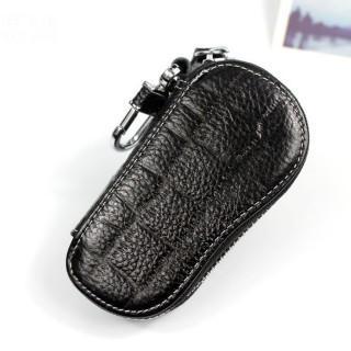 新品 ブラック キーケース 型押し柄 レザー調 6連キーケース(キーケース)