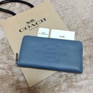 COACH - 新品未使用 最新モデル COACH 長財布 人気 ロゴ ネイビー