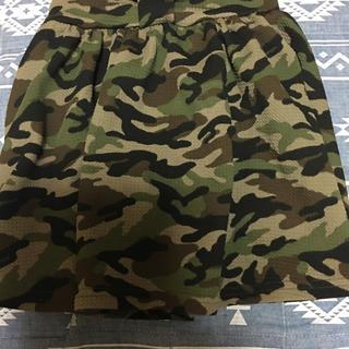 シマムラ(しまむら)の迷彩インパン付きスカート120美品(スカート)