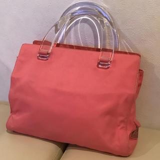 PRADA - 【PRADA】プラダ ピンクの可愛いトートバッグ