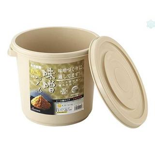 リス 味噌容器 6型 直径25.3×21.1cm ベージュ 日本製(容器)
