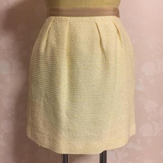 プロポーションボディドレッシング(PROPORTION BODY DRESSING)の美品 プロポ    イエロー ボーダー スカート(ミニスカート)
