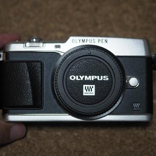 オリンパス(OLYMPUS)のオリンパス pen E-P5 ボディ シルバー(ミラーレス一眼)