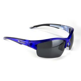 偏光 レンズ サングラス X-Loop 481 ブルー(その他)