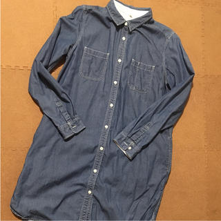 ムジルシリョウヒン(MUJI (無印良品))の無印良品  デニムワンピース  授乳服(マタニティワンピース)