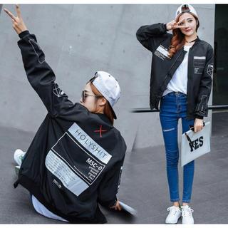 *韓国ファッション*ロゴブルゾン(ブルゾン)