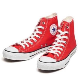 CONVERSE - コンバース converse スニーカー 赤 レッド 23センチ 靴 ハイカット
