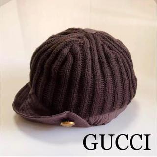 グッチ(Gucci)のGUCCI ニット帽(ニット帽/ビーニー)