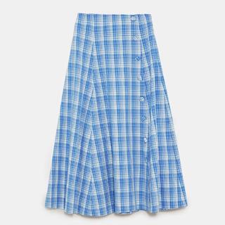 ザラ(ZARA)の◇ZARA ザラ チェック スカート◇(ロングスカート)