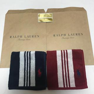 ラルフローレン(Ralph Lauren)の新品 ラルフローレン タオル ハンカチ セット ポロ(ハンカチ/ポケットチーフ)