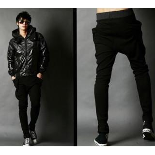 メンズパンツ スエットパンツ ジョガーパンツ  レディース XL 黒(サルエルパンツ)