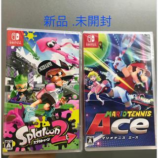 Nintendo Switch - 🎮【新品.未開封】スプラトゥーン2+ マリオテニス エース