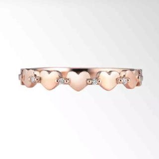 スタージュエリー(STAR JEWELRY)の貴重 スタージュエリー  ハート ダイヤモンド リング K10 (リング(指輪))