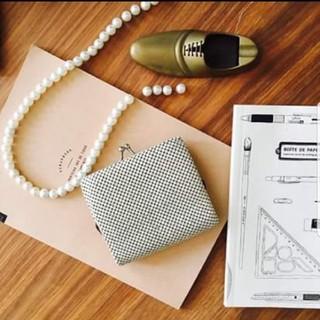 ロンハーマン(Ron Herman)のレトロ 財布 二つ折り 海外 ビンテージ アンティーク メタリック(財布)